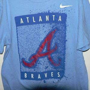 pretty nice 476ec 2dad7 Nike Atlanta Braves T-Shirt - Light Blue